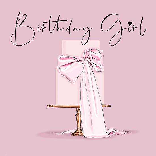 printable birthday girl card