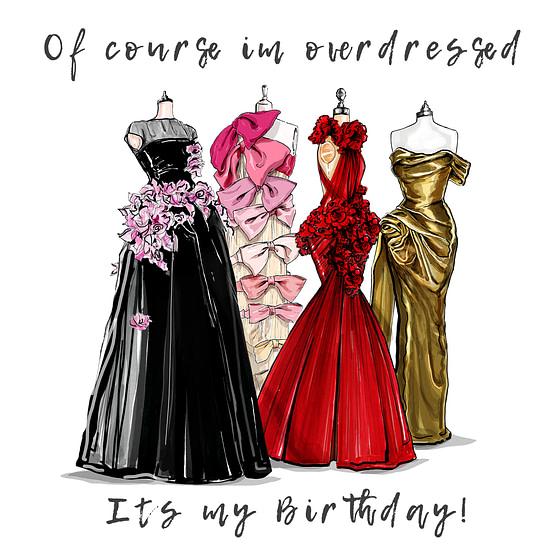 fashionista birthday card