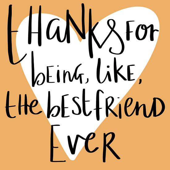 thank you for being my best friend card