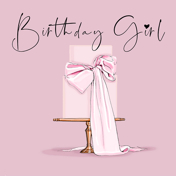 printable birthday girl card